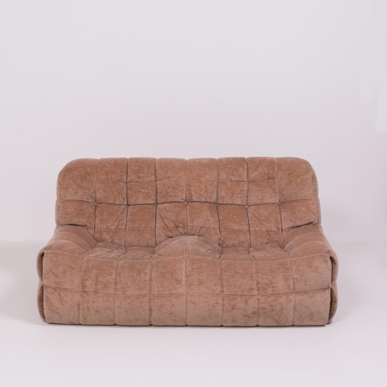 French Pair of Pink Kashima 2-Seat Sofas by Michel Ducaroy for Ligne Roset For Sale