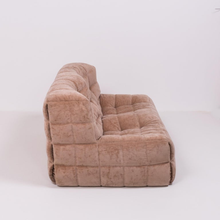 Late 20th Century Pair of Pink Kashima 2-Seat Sofas by Michel Ducaroy for Ligne Roset For Sale