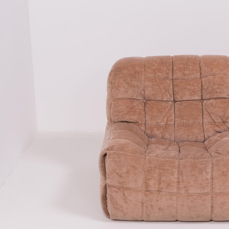 Pair of Pink Kashima 2-Seat Sofas by Michel Ducaroy for Ligne Roset For Sale 1