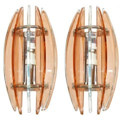 Pair of Pink Veca Sconces