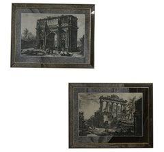 Pair of Piranesi Prints in Mirrored Frames, Italian, Mid-20th Century
