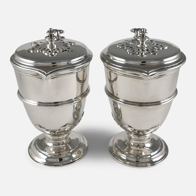 Pair of Planished Sterling Silver Jugs; Johnson, Walker and Tolhurst, 1935 For Sale 7