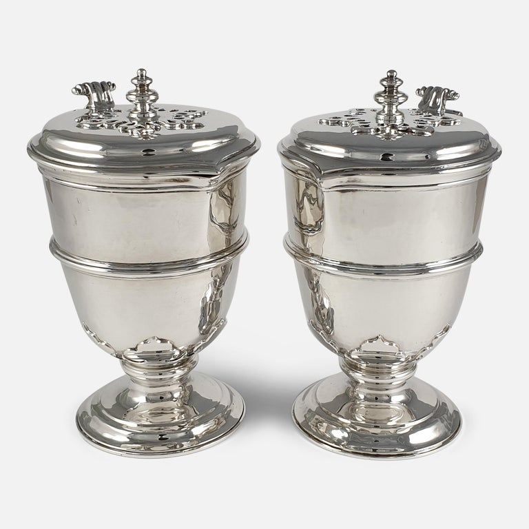 Pair of Planished Sterling Silver Jugs; Johnson, Walker and Tolhurst, 1935 For Sale 9