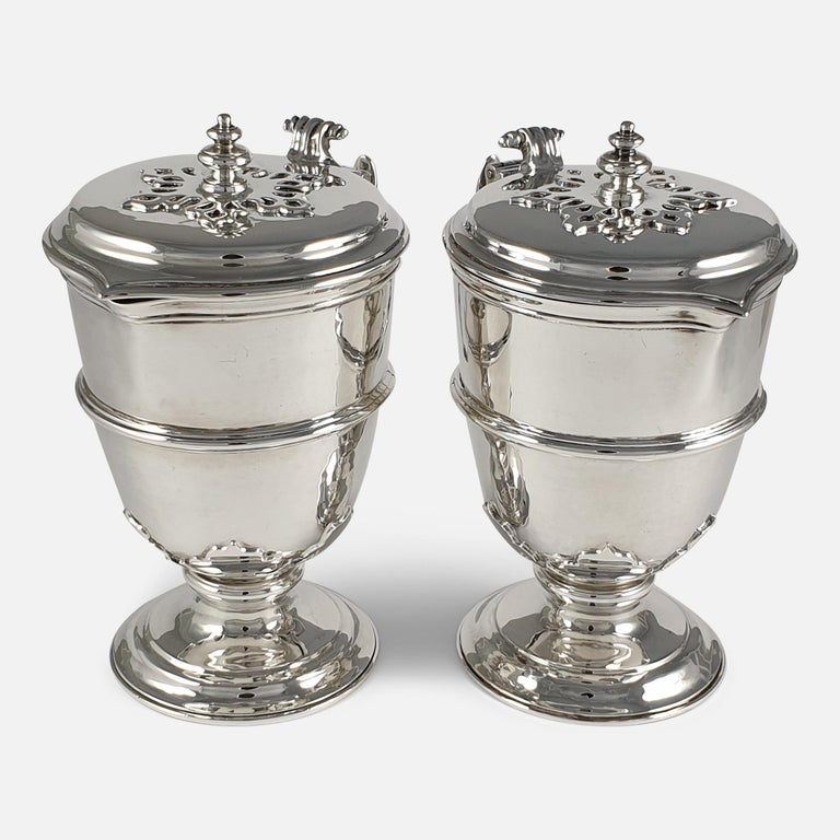 Pair of Planished Sterling Silver Jugs; Johnson, Walker and Tolhurst, 1935 For Sale 2