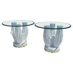 Pair of Plaster Cactus Side / End Tables