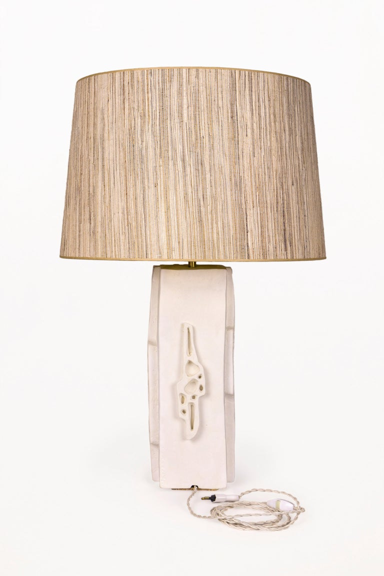 Modern Pair of Plaster Lamps, circa 2000, France For Sale