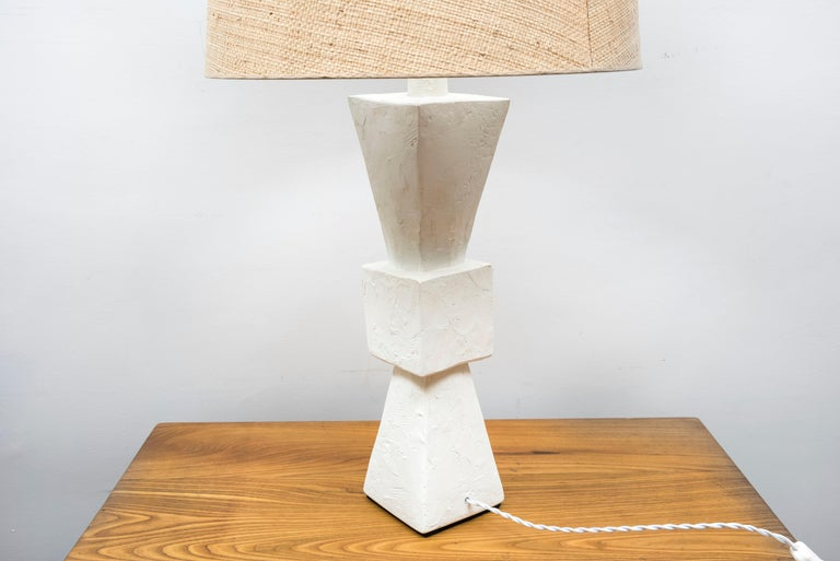Pair of Plaster Lamps For Sale 1