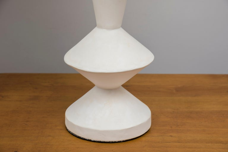 Contemporary Pair of Plaster Lamps in the Taste of Jean-Michel Frank For Sale