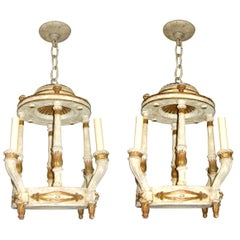 Pair of Plaster Neoclassic Light Fixtures, Sold Individually