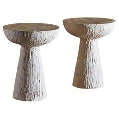 Pair of Plaster Pedestals