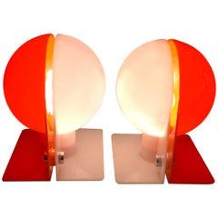 Pair of Plastic Lamps by Sergio Brazzoli and Ermanno Lampa for Guzzini