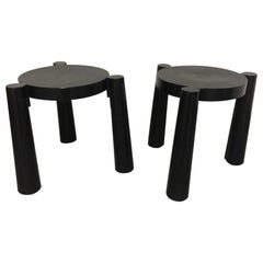 "Pair of Plastic Stool ""Stooble"" by Anna Castelli Ferrieri, Kartell, Italy, 1980s"
