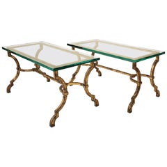 Pair of Poillerat Cocktail Tables for Ramsay