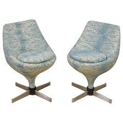 Pair of Polaris Meurop Swivel Chairs by Pierre Guariche, 1960s, Belgium