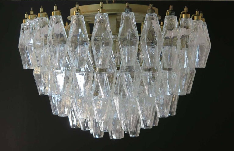 Pair of Poliedri Chandeliers, Murano For Sale 4
