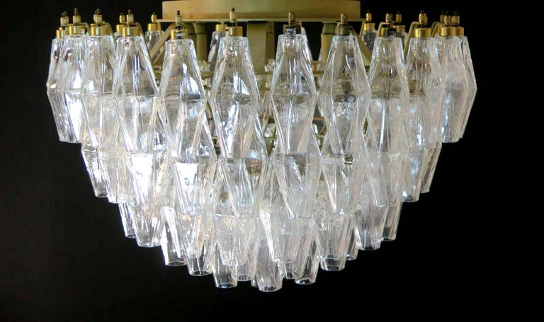 Pair of Poliedri Chandeliers, Murano For Sale 5