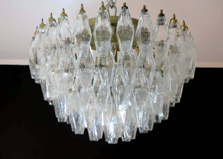 Pair of Poliedri Chandeliers, Murano For Sale 6