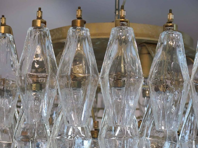 Pair of Poliedri Chandeliers, Murano For Sale 7