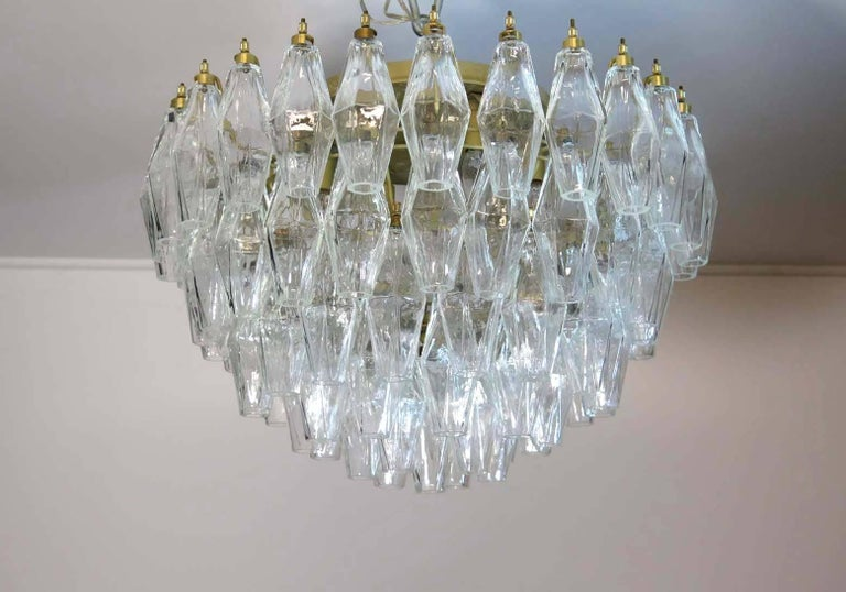Pair of Poliedri Chandeliers, Murano For Sale 1