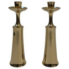 Pair of Polish Brass Candlesticks by Jens Quistgaard for Dansk