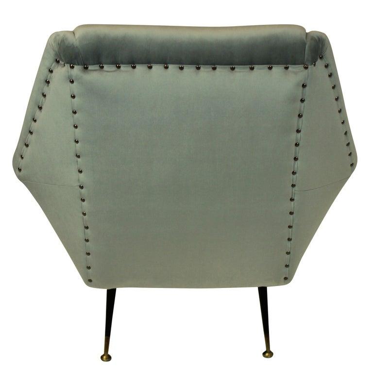 Italian Pair of Ponti Style Midcentury Armchairs For Sale