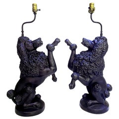 Pair of Poodle Lamps