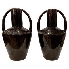 Pair of Porcelain Art Deco Vases