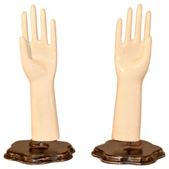 Pair of Porcelain Glove Molds