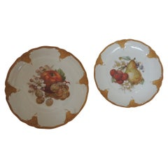 Pair of Porcelain Hand Painted Dessert Plates