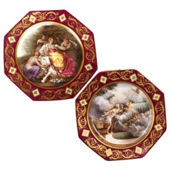 Pair of Porcelain Plates From Vienna