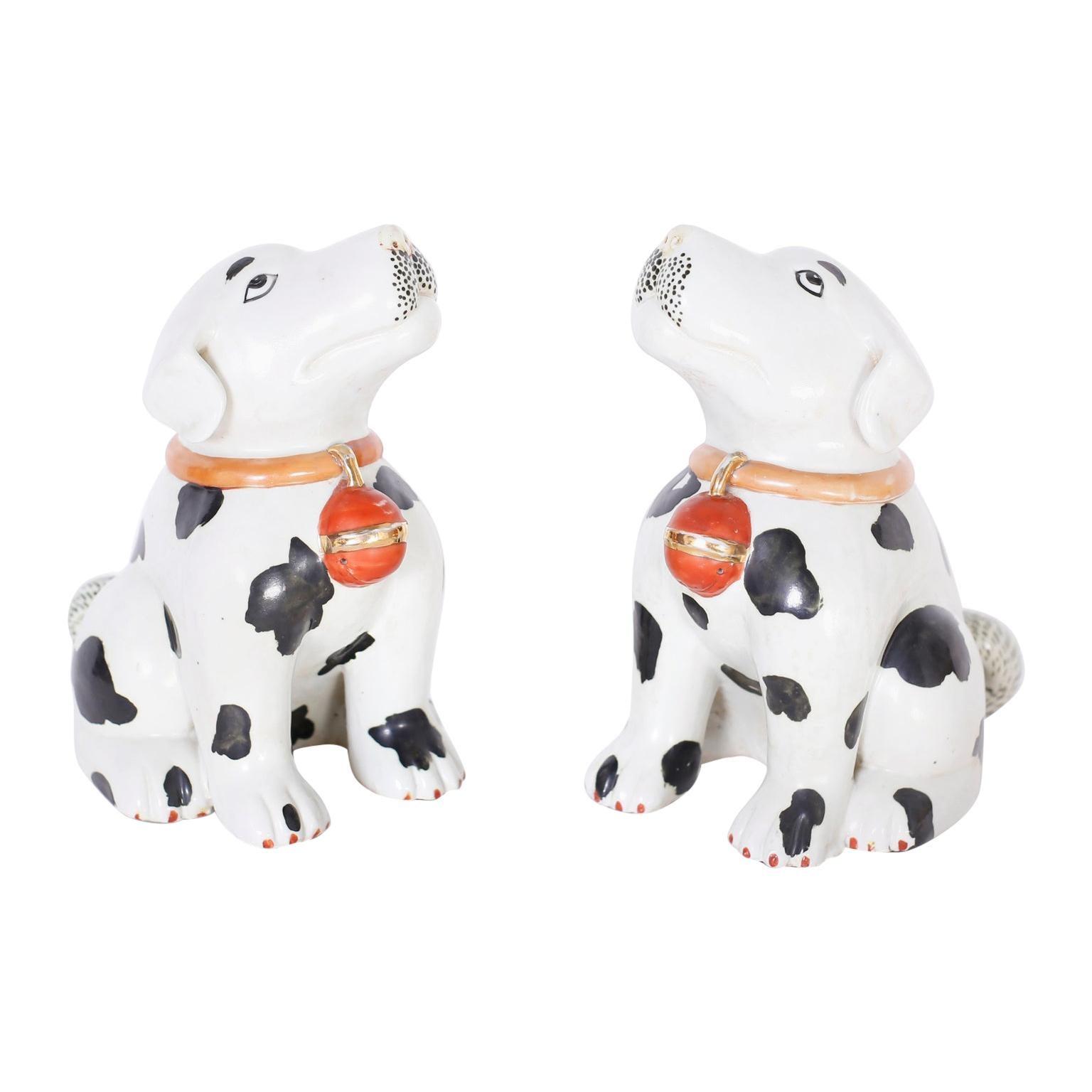 Pair of Porcelain Puppies