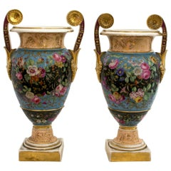 Pair of Porcelain Urns, Empire circa 1800