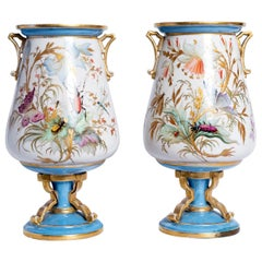 Pair of Porcelain Vases, France, Late 19th Century