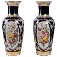 Pair of Porcelain Vases from Paris, 19th Century, Napoleon III