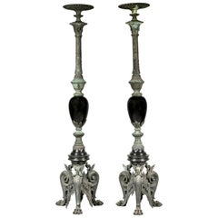 Pair of Porte-Torchères in the Manner of Barbedienne