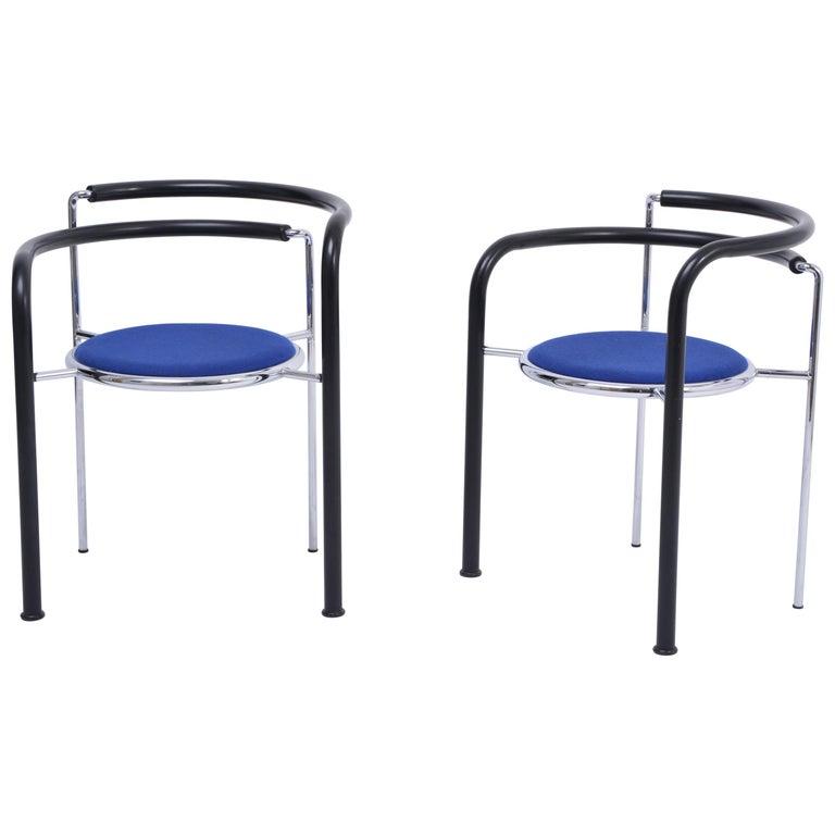 "Pair of Postmodern ""Dark Horse"" Chairs by Rud Thygesen and Johnny Sorensen For Sale"