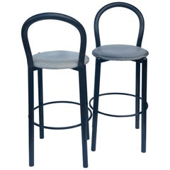 Pair of Postmodern Memphis Era Italian Bar Stools