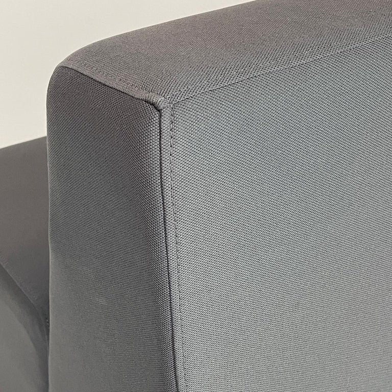 Really great pair of armless sofas by Steelcase. Perfect for workplace or residential. Sturdy cleanable upholstery. Would be great in an art gallery. Could also be put together to form one long sofa. Each piece measures: Overall 29