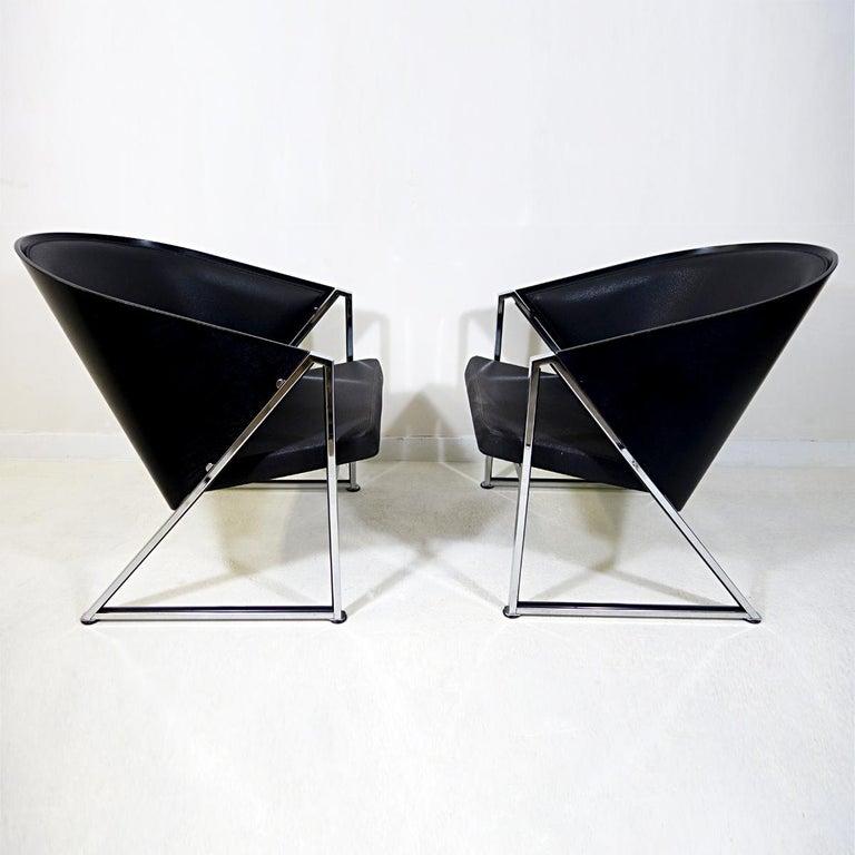 Post-Modern Pair of Mondi Soft Chairs by Finnish Designer Jouko Järvisalo for Inno For Sale