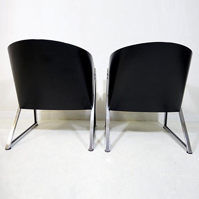 Dutch Pair of Mondi Soft Chairs by Finnish Designer Jouko Järvisalo for Inno For Sale