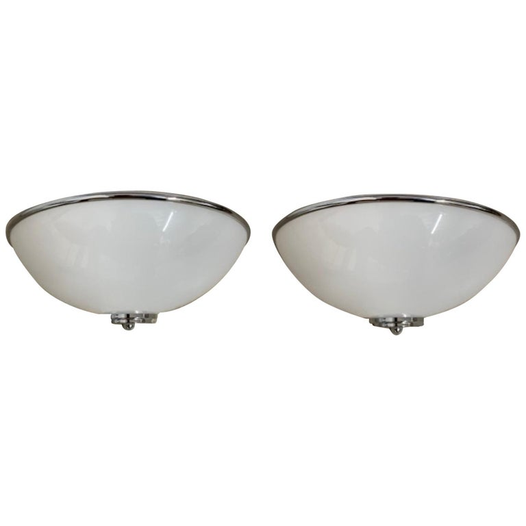 Pair of Postmodern Deco Regency Inspired Wall Sconces, Louis Baldinger and Sons For Sale