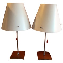 "Pair of Postmodern ""Itaca"" Table Lamps by Orni Halloween for Artemide Side Car"