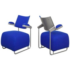 Pair of Postmodern Lounge Chairs by Harri Korhonen for Inno, Finland, 1990
