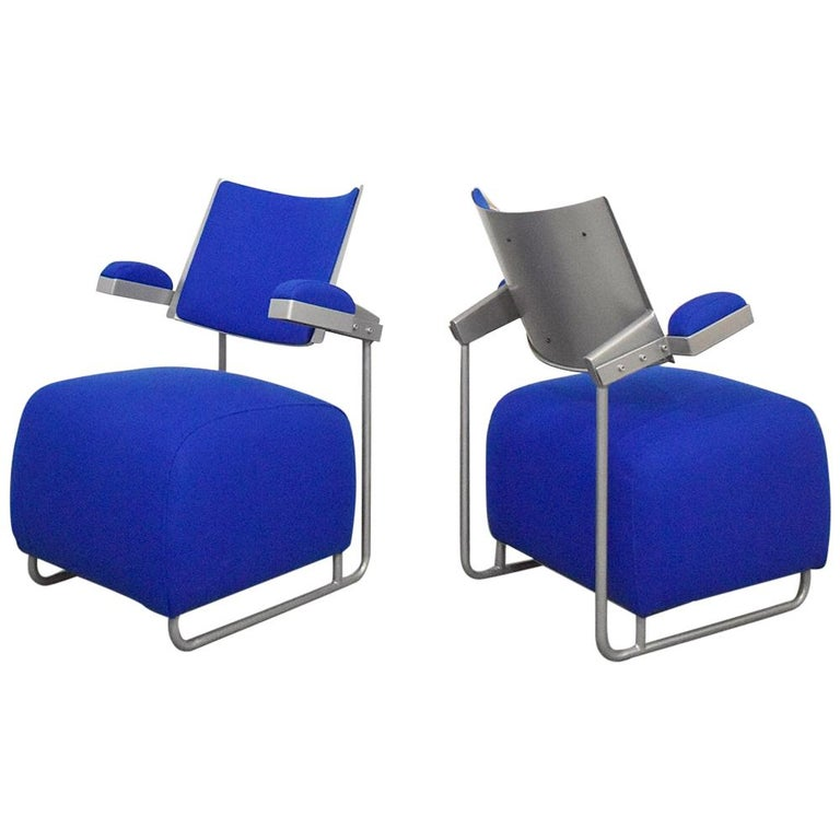 Pair of Postmodern Lounge Chairs by Harri Korhonen for Inno, Finland, 1990 For Sale