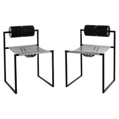 Pair of Postmodern Seconda Chairs by Mario Botta