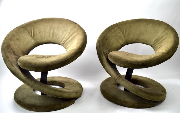 Pair of Postmodern Twist Chairs by Quebec 69 Jaymar Furniture For Sale 3