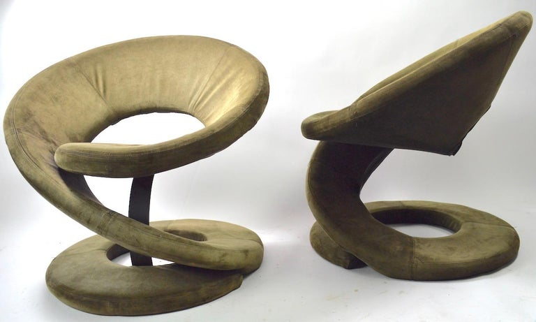 Pair of Postmodern Twist Chairs by Quebec 69 Jaymar Furniture For Sale 4