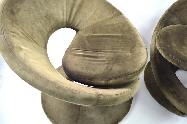 Pair of Postmodern Twist Chairs by Quebec 69 Jaymar Furniture For Sale 6