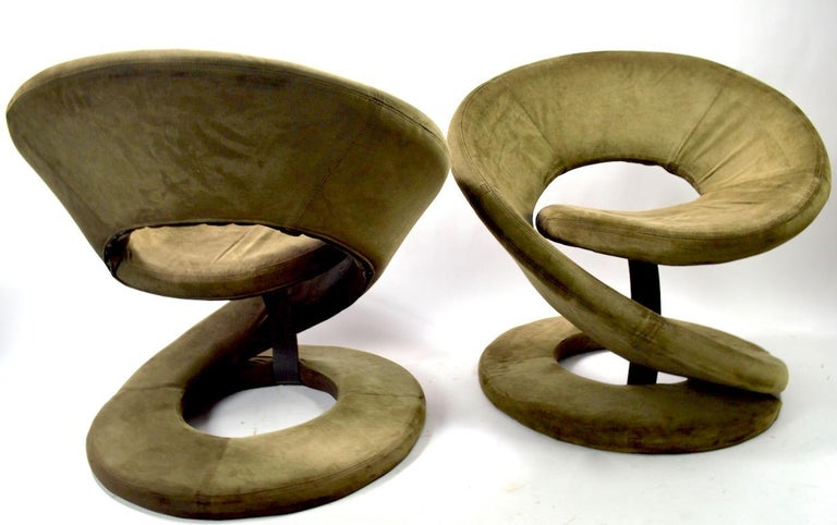 Pair of Postmodern Twist Chairs by Quebec 69 Jaymar Furniture For Sale 7