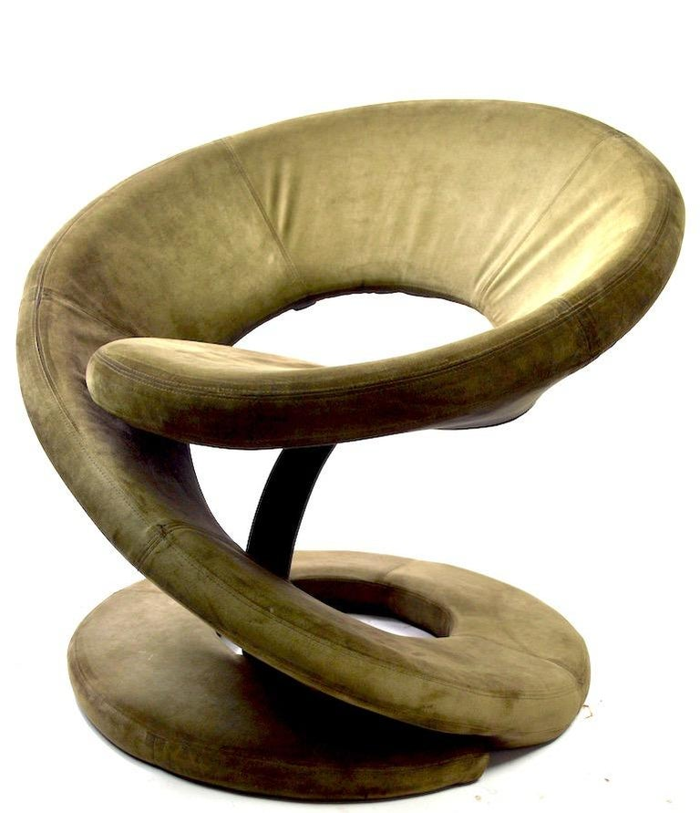 Pair of Postmodern Twist Chairs by Quebec 69 Jaymar Furniture For Sale 1